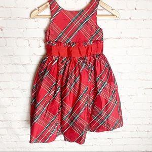 Janie And Jack Silk Christmas Dress Size 6